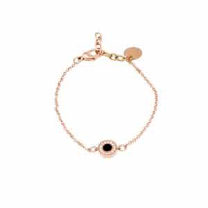 Ingnell Karin bracelet thin rose/black